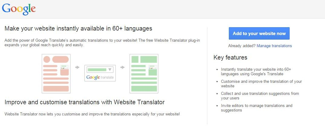 What does using Google Translator mean for my website?