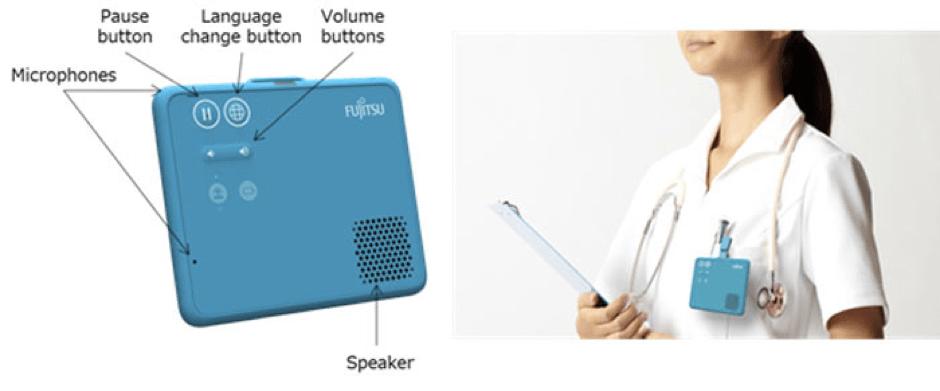 Fujitsu develops a wearable, hands-free translation device