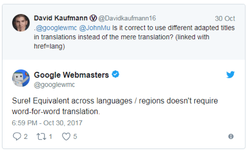 Your multilingual pages shouldn't be word for word translation